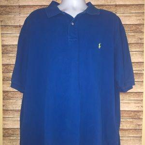 Polo Ralph Lauren Blue SS Mesh Polo Shirt Sz 3XLT